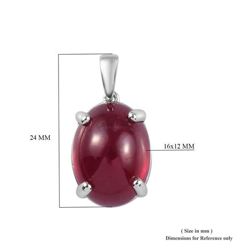 RHAPSODY 950 Platinum African Ruby Solitaire Pendant 14.50 Ct.