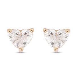 ILIANA 18K Yellow Gold Diamond (SI/G-H) Stud Earrings (with Screw Back) 0.50 Ct.