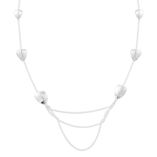 Vicenza Collection- Designer Inspired Hand Made Sterling Silver Necklace (Size 30), Silver wt 24.40 Gms.
