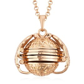 Angels Secret Locket Necklace (Size 29 with 2.5 inch Extender) in Gold Plated