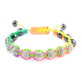Multi Coloured Adjustable Beads Bracelet (Size 7.5)