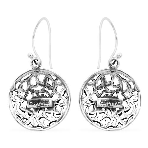 Royal Bali Collection - Sterling Silver Hook Earrings, Silver wt 4.35 Gms