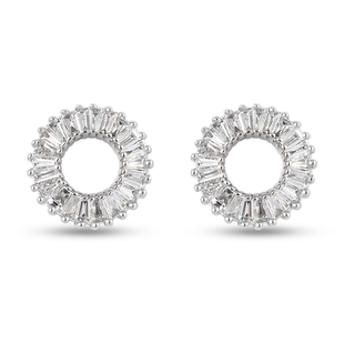 RHAPSODY 950 Platinum IGI Certified Diamond (VS/E-F) Stud Earrings (with Screw Back) 0.48 Ct.