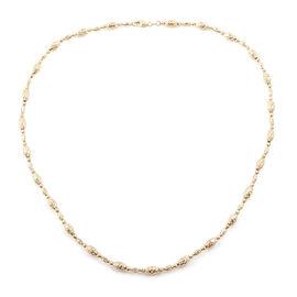 Royal Bali Collection- 9K Yellow Gold Necklace (Size 20), Gold wt 15.29 Gms