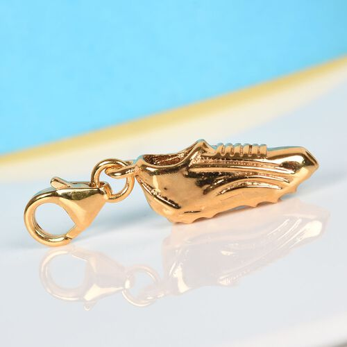 14K Gold Overlay Sterling Silver Football Boot Charm, Silver wt. 1.79 Gms