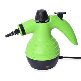 Multi-Purpose Steam Cleaner with Nine Accessories - Green and Black
