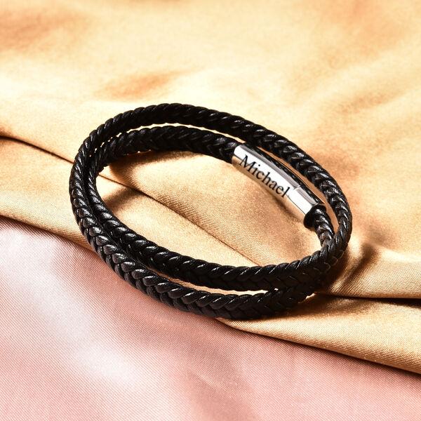 Personalised Engravable Genuine Leather Bracelet