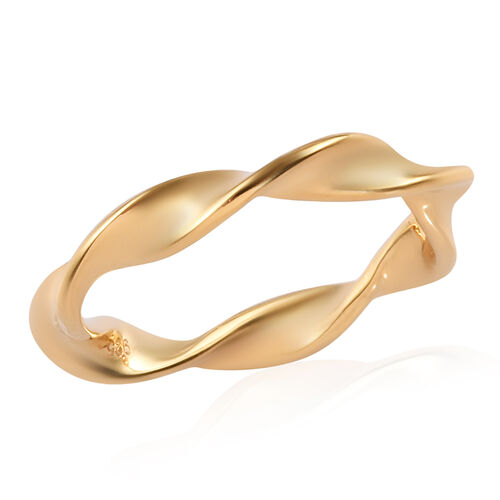 14K Gold Overlay Sterling Silver Twisted Ring