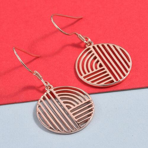 Rose Gold Overlay Sterling Silver Hook Earrings