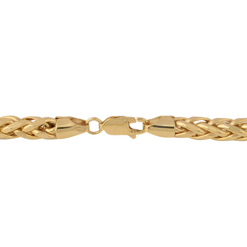 JCK Vegas Collection- 9K Yellow Gold Spiga Necklace (Size 22), Gold wt 22.00 Gms.