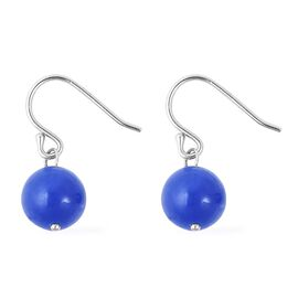 Blue Jade (Rnd) Earrings in Sterling Silver 8.500 Ct.
