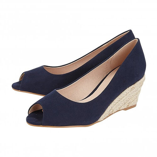 Lotus Bianca Wedge Shoes (Size 3) - Navy