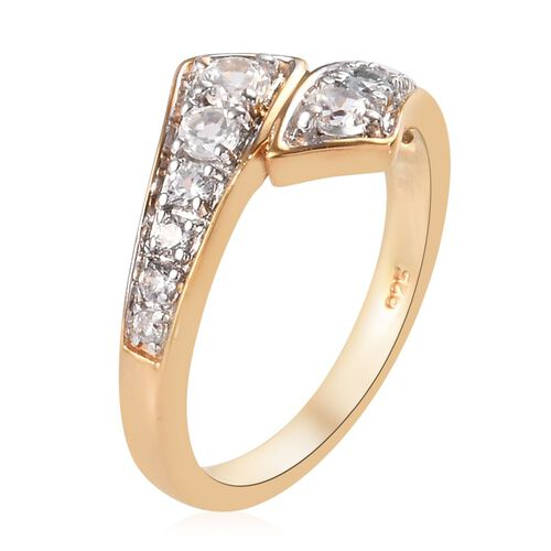 Natural Cambodian Zircon Ring in 14K Yellow Gold Overlay Sterling Silver 0.60 Ct.