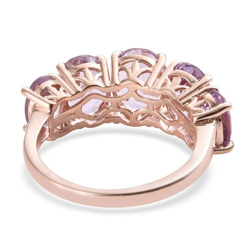 Rose De France Amethyst (Ovl) 5 Stone Ring in Sterling Silver 7.500 Ct.