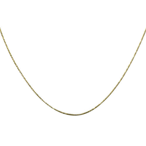 Chain Necklace in 9K Gold 18 Inch