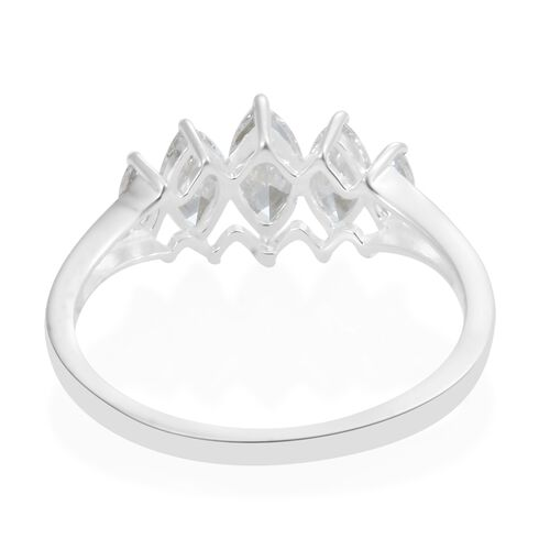J Francis - Sterling Silver (Mrq) Ring Made with SWAROVSKI ZIRCONIA