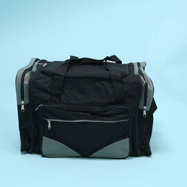 Black and Grey Multi Zipped Compartment Holdall (Size 30x50x27 cm)