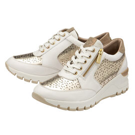 Lotus Shakira Leather Casual Trainers - White & Gold
