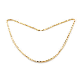 Surabaya Gold Collection - 9K Yellow Gold Spiga Necklace (Size 30), Gold wt 12.14 Gms.