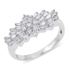 ILIANA 18K White Gold IGI Certified Diamond (Rnd and Bgt) (SI/G-H) Ring 1.00 Ct.