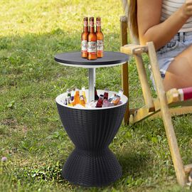 3-in-1 Belle Cool Bar with Colour Changing Light in Black (Size:48.5x48.5x 57Cm)
