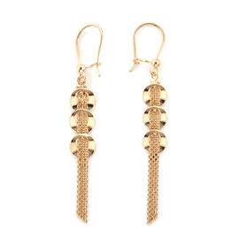 Royal Bali Collection 9K Yellow Gold Tassel Hook Earrings.Gold Wt 2.36 Gms