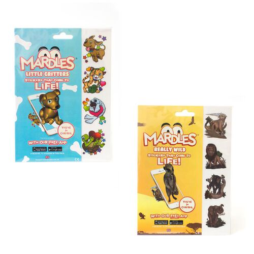 (Option-2) Little Critters Duo Pack Includes 24 Mardles Stickers (12 each of  Little Critters and Really Wild).