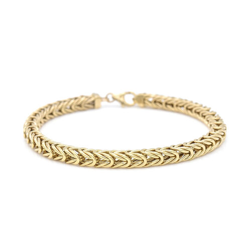 Italian Made- 9K Yellow Gold Foxtail Bracelet (Size 7.5), Gold wt 8.03 Gms