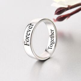 Personalised Engravable 950 Platinum  Band Ring, Platinum Wt. 8 Gms