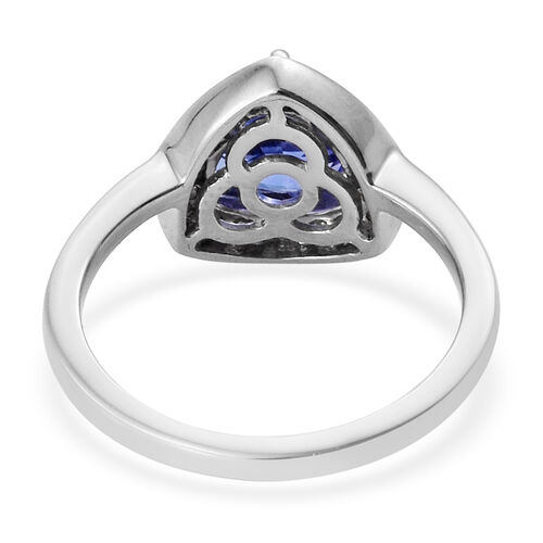 Signature Collection 950 Platinum AA Tanzanite (Trl 7.5mm) and Diamond (VS/E-F) Ring 1.75 Ct.