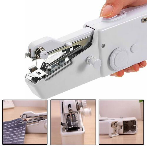 Portable Handy Sewing Machine (Size 21x7.2x4.7cm) - White