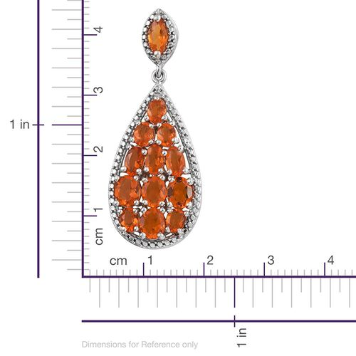 Jalisco Fire Opal (Ovl) Pendant in Platinum Overlay Sterling Silver 2.00 Ct.