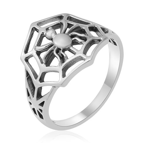 New Arrival- Sterling Silver Spider Web Mens Ring