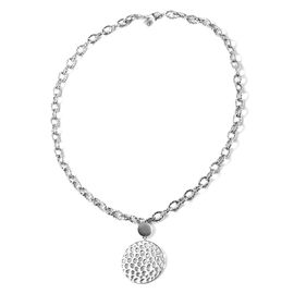 Rachel Galley Allegro link Collection - Rhodium Overlay Sterling Silver Necklace (Size 20), Silver w