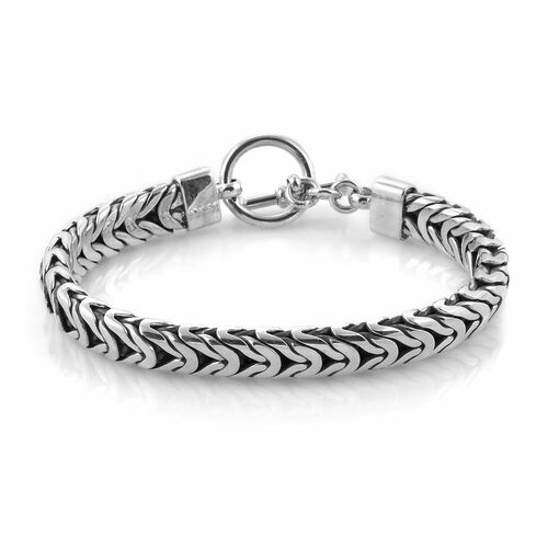 Royal Bali Collection Sterling Silver Borobudur Bracelet (Size 7.5), Silver wt 45.20 Gms.