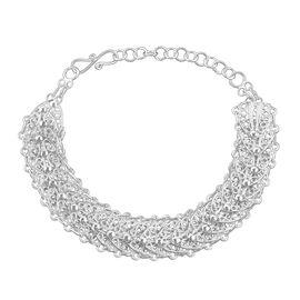Royal Bali Leaf Linked Bracelet in Sterling Silver 11.60 Grams 6.5 With 1 Inch Extender