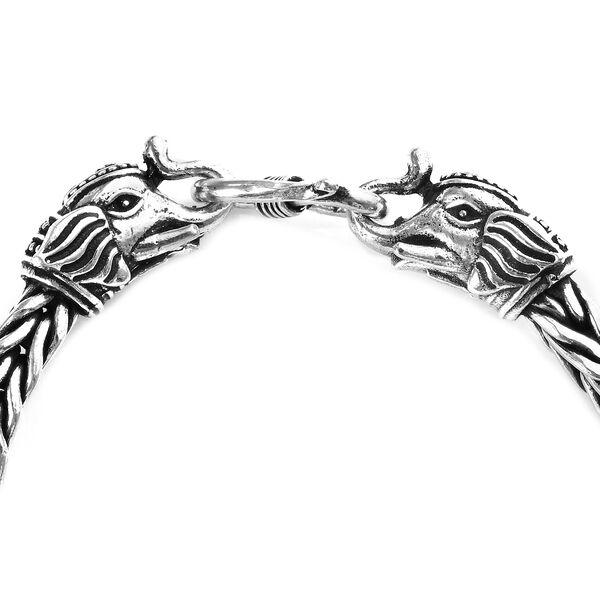 Sterling Silver Elephant Head Bracelet (Size 7.5), Silver wt 38.75 Gms