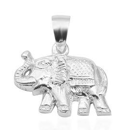 Designer Inspired-Sterling Silver Elephant Pendant, Silver wt 3.9 Gms