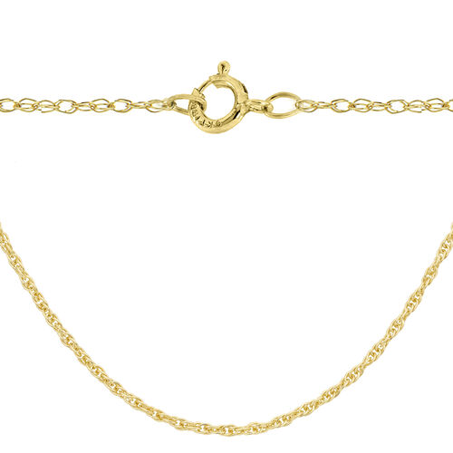 14K Gold Overlay Sterling Silver Prince of Wales Chain (Size 24)