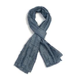 Sparkle Blue Colour Scarf (Size 180x47 Cm)