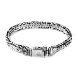 Bali Legacy Collection Sterling Silver Snake Weave Bracelet (Size 7.25), Silver wt 41.50 Gms.