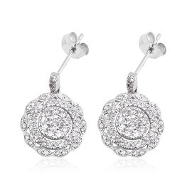 New York Close Out Deal -14K White Gold Diamond (Rnd) Earrings (with Push Back) 1.00 Ct. (G-H/I2)