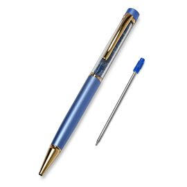 One Time Deal - 15 Carat Blue Sapphire Filled Pen with Extra Refill - Blue