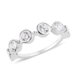 J Francis Sterling Silver Ring Made with SWAROVSKI ZIRCONIA 2.40  Ct.