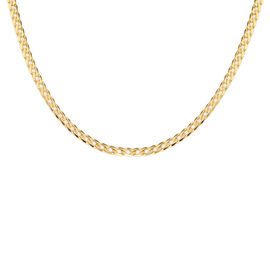 Close Out Deal 9K Yellow Gold Diamond Cut Curb Necklace (Size 20), Gold wt 3.67 Gms.