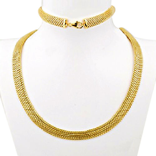 Vicenza Collection Bismark Necklace in 9K Gold 17 with 3 Inch Extender