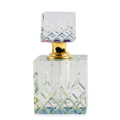 Refillable Glass Perfume Bottle with Faceted Cap (5 ML) - Square Shape