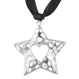RACHEL GALLEY Star Heart Baubles Charm in Silver Tone