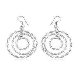 Sterling Silver Multi Hoop Dangle Hook Earrings, Silver wt 4.19 Gms.