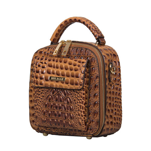Bulaggi Collection - Bells Cute Crossbody Bag with Zipper Closure (Size 19x19x9cm) - Rust